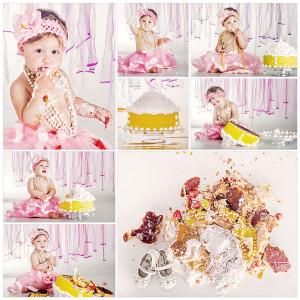 cake smash for baby girl