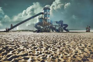 צילום אדריכלות, מזרקה בבת ים