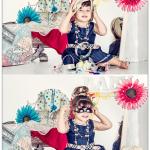 צילום ילדה בסטודיו באווירה של חדר הלבשה