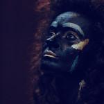 צילומי face art ברקע שחור
